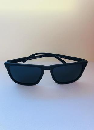 Очки солнцезащитные мужские вайфарер матовые полароид
