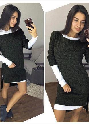 Платье-двойка. ангора софт