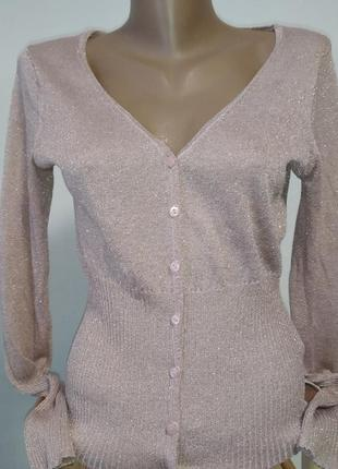 Кардиган кофта свитер блестящий