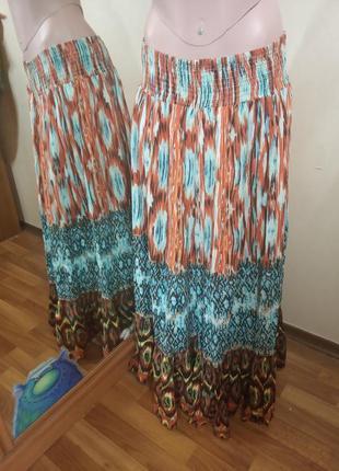 Юбка циганская в стиле бохо
