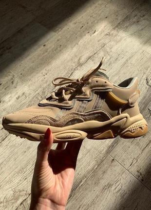 Adidas ozweego trainer beige бежевые ⭕ женские кроссовки ⭕ наложенный платёж
