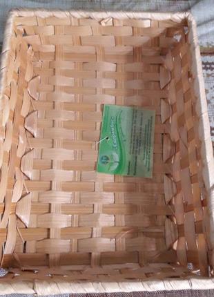 Хлебница, фркутовница из натуральной соломки.