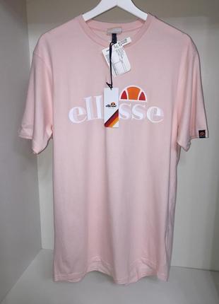 Футболка ellesse с интересным логотипом  новая розовая  оригинал