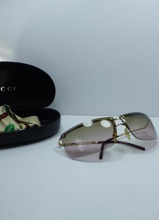 Винтажные очки gucci с градиентом
