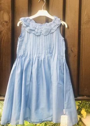 Невесомое батистовое голубое платье,wojcik