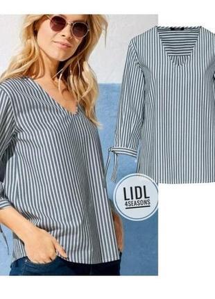 Блуза, рубашка в полоску, рукав 3/4, 38 euro (44), esmara, германия