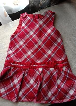 Нарядное платье сарафан клетка с люрексом