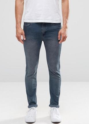 Распродажа! новые мужские синие зауженные джинсы от cheap monday