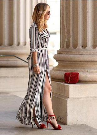 Исключительно красивое платье в полоску на лето