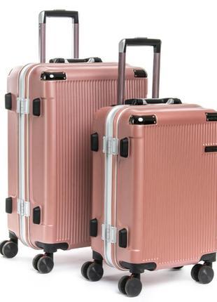 Abs пластикова дорожня валіза на 4-х колесах