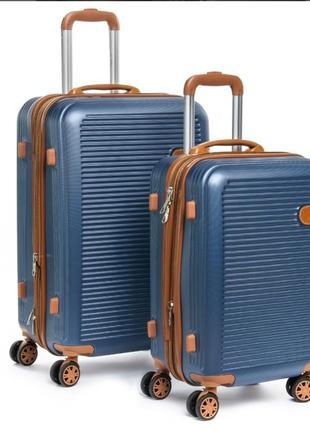 Abs пластикова дорожня валіза на 4- х колесах (комплект).