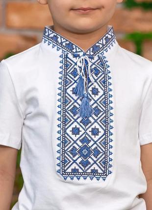 Вишиванка вышиванка футболка з вишивкою для хлопчика 10 років2 фото
