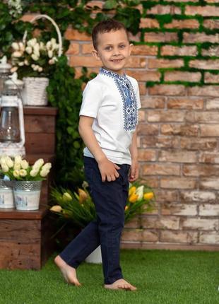 Вишиванка вышиванка футболка з вишивкою для хлопчика 10 років4 фото