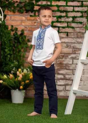 Вишиванка вышиванка футболка з вишивкою для хлопчика 10 років5 фото
