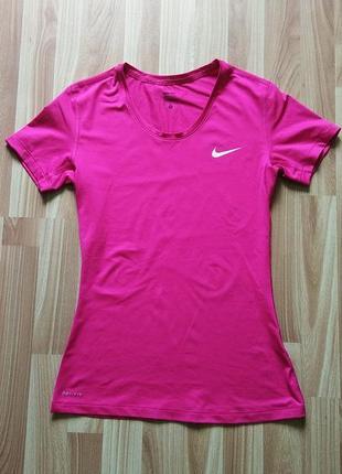 Спортивная футболка nike dri-fit, майка, топ, для спорта, спортивна