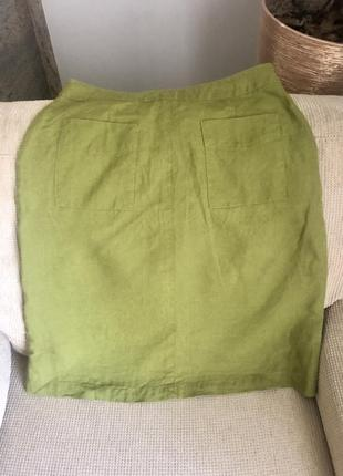 Льняная юбка laura ashley