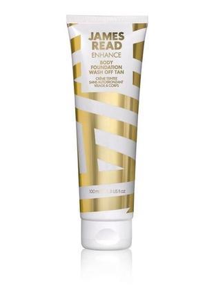 Молочко-автозагар для лица и тела james read body foundation wash off tan face & body