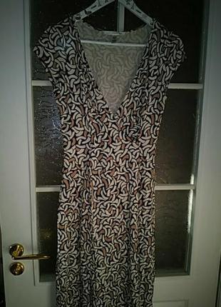 Брендовое шёлковое платье халат миди на запах, 💯 шелк