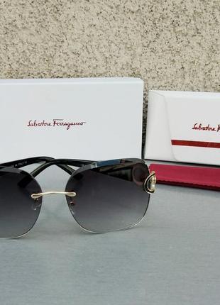Salvatore ferragamo очки женские солнцезащитные черные с градиентом
