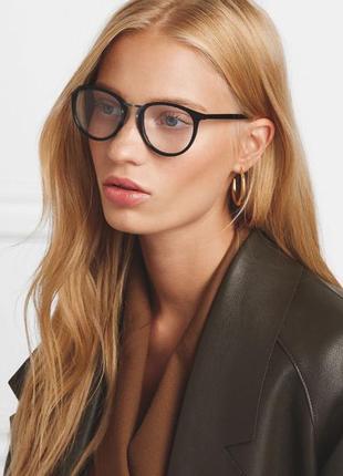Имиджевые очки нулевки женские круглые библиотекаря оправа