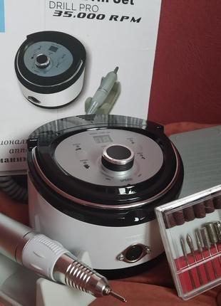 Фрезер машинка для маникюра, наращивания ногтей nail drill zs-606 (65 вт/35000 об)