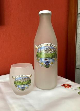"""Набор для молочных напитков """"цугшпице"""". стекло. германия."""