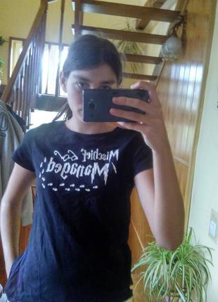 Чорна футболка harry potter primark l 100% cotton