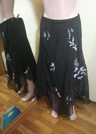Шифоновая юбка большой размер