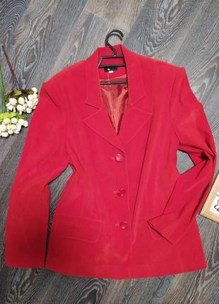 Пиджак размер м-л красный, спандекс
