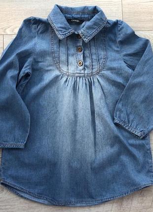 Легенька джинсова сукня 3-4 рочки