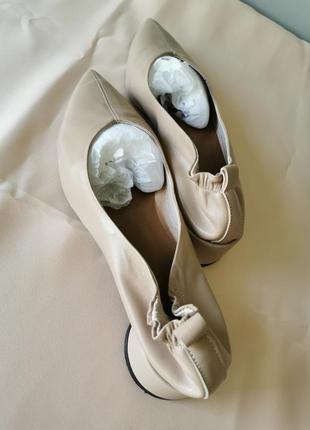 Нежные кожаные туфли балетки