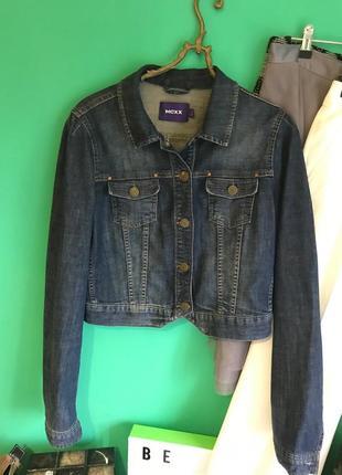 Котоновая джинсовая куртка mexx