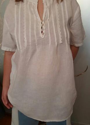 Льняная рубашка лен   италия