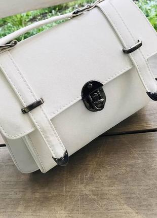 Женская сумка, белая  эко-кожа 🇹🇷5 фото