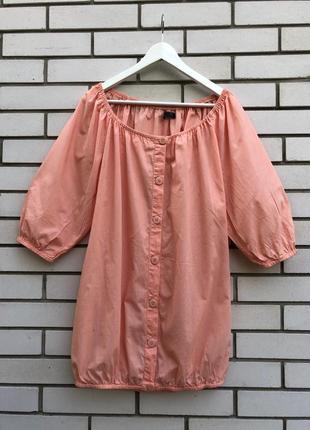 Блузка ,туника,рубаха в этно стиле, с открытыми плечами,only,хлопок