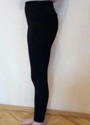 Штаны - лосины черные с завышенной талией2 фото