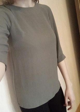 Блуза atmosphere легкая цвета хаки