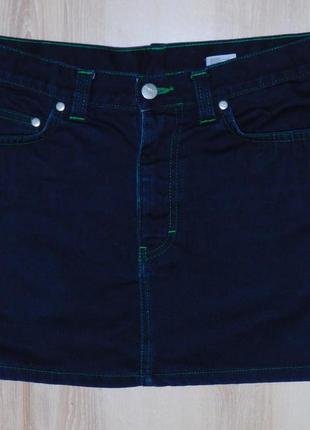 Стильная джинсовая юбка divided, сост. отличное. размер 12. сток!