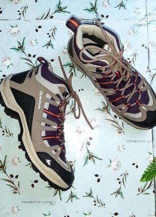 🎁1+1=3 шикарные водонепроницаемые кроссовки ботинки quechua, размер 38