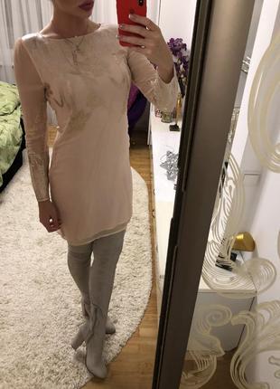 Платье натуральный шелк брэнд oasis размер s-m