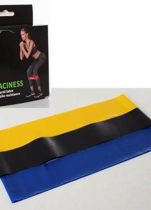 Резинки для фитнеса raciness (3 шт в комплекте)