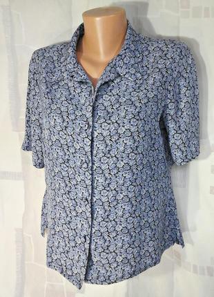 Милая блузка из прохладного вискозного шелка, великобритания