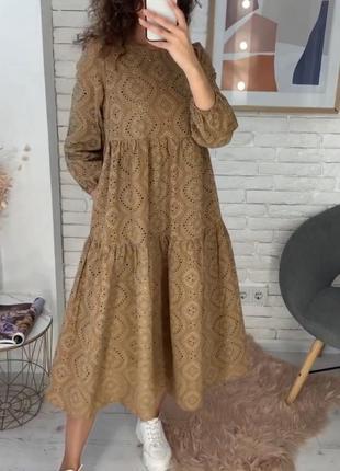 Платье бавовна с карманами