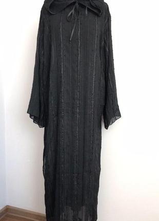 Ведьма колдунья призрак черная туника с капюшоном хэллоуин