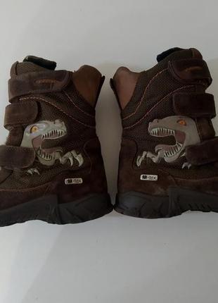 Ботинки утеплённые динозавр