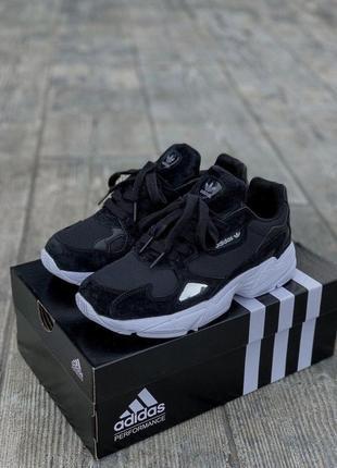 Adidas falcone женские спортивные кроссовки в черном цвете (36-42)