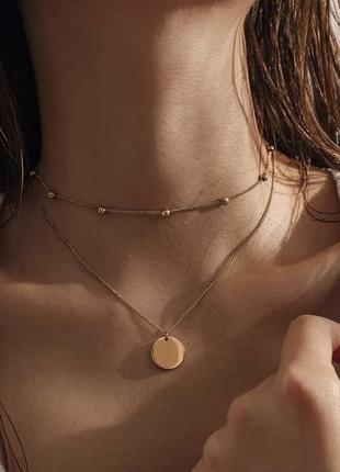 Цепочка, женское украшение, цепочка с кулоном,многословное украшение