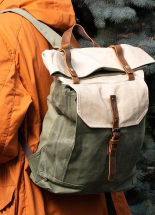 Рюкзак городской с отделением для ноутбука. роллтоп. 3 цвета.