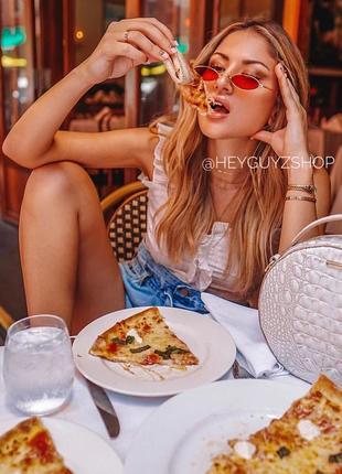 💥распродажа💥солнцезащитные очки красные сонцезахисні окуляри червоні стеклянные узкие овальные10 фото