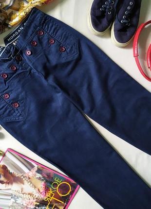Синие брюки в морском стиле morgan, оригинальная матросская застежка, египетский хлопок